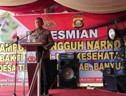 Kapolda Sumsel Resmikan Kampung Tangguh Narkoba