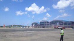 Menhub bersama Menteri Investasi juga meninjau progres pembangunan Bandara Rendani di Ibu Kota Provinsi Papua Barat, Manokwari.
