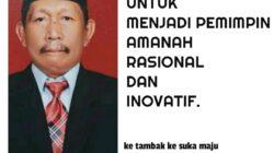 Sumardi Basori, Calon Kepala Desa Raja jaya,. Kabupaten PALI, Jum'at (3/9/2021)