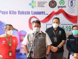 Gubernur Tinjau Vaksinasi Bagi Driver Ojol dan Masyarakat