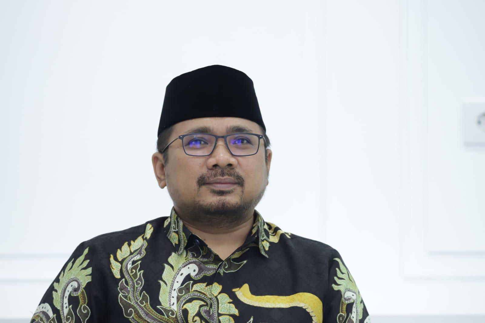 Menteri Agama (Menag) Yaqut Cholil Qoumas di Jakarta, Selasa (14/9/2021).
