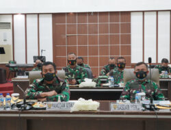 Pangdam II Sriwijaya Vidcon Bersama Panglima TNI Evaluasi Penanganan Covid-19 dan Vaksinasi