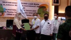 Hj Samantha Tivani terpilih aklamasi dalam Musyawarah Provinsi Luar Biasa (Musprovlub) Kormi Sumsel 2021 di Hotel Swarna Dwipa Palembang, Kamis (23/9/2021) siang.