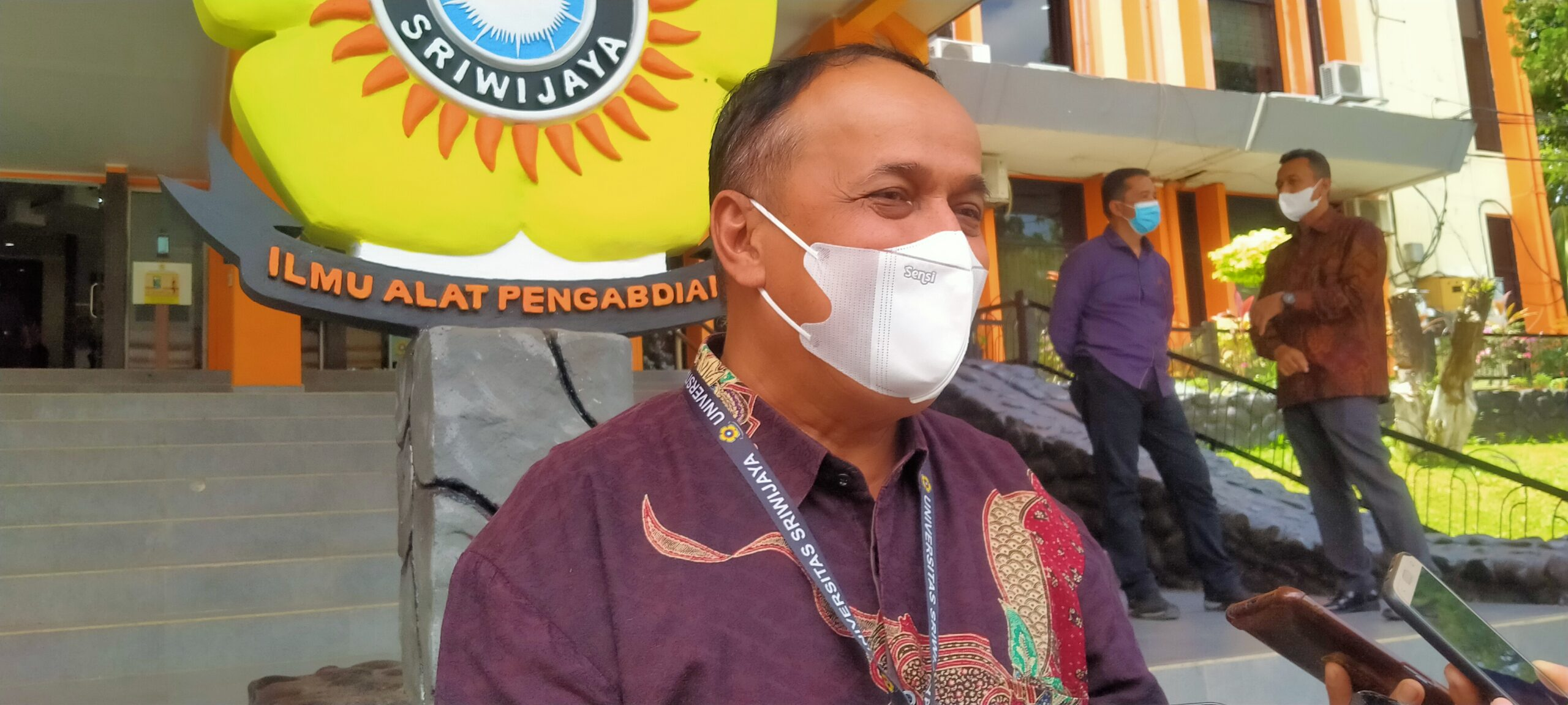 Rektor universitas Sriwijaya Prof Dr Ir Anes Saggaf