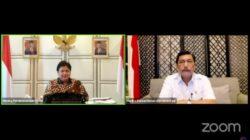 Menteri Koordinator Bidang (Menko) Perekonomian Airlangga Hartarto dalam Keterangan Pers mengenai Perkembangan PPKM Terkini, Senin (13/09/2021) malam, secara virtual.