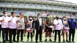 turnamen bola basket antar pelajar SMA/SMK se-Kota Palembang yang dipusatkan di SMA Negeri 1 Palembang, Rabu (6/10) pagi.
