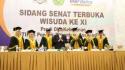Wisuda D III Kebidanan STIKes Pondok Pesantren Assanadiyah di Ballroom Lantai 3 Beston Palembang, Kamis (14/10)