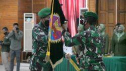upacara Serah Terima Jabatan (Sertijab) dua Pejabat Danrem sekaligus, di Gedung Balai Prajurit Korem 041/Gamas , Padang Harapan, Kota Bengkulu, Kamis (7/10/2021).